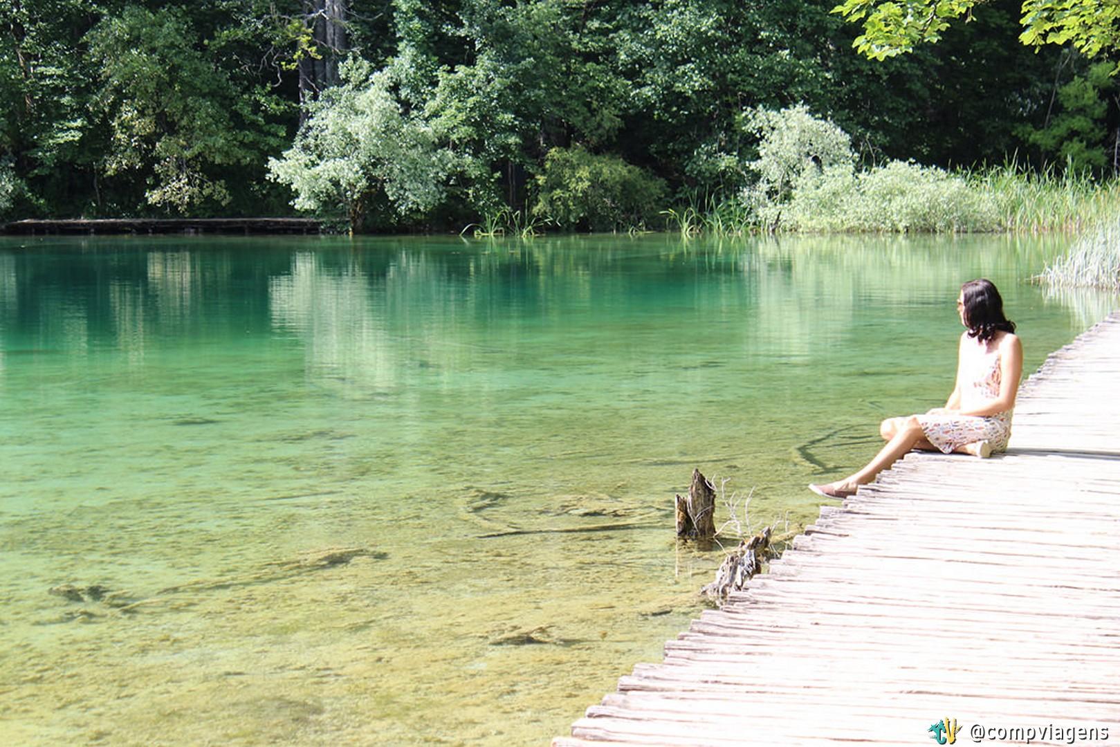 Ao longo do parque tem várias passarelas de madeira sobre os lagos