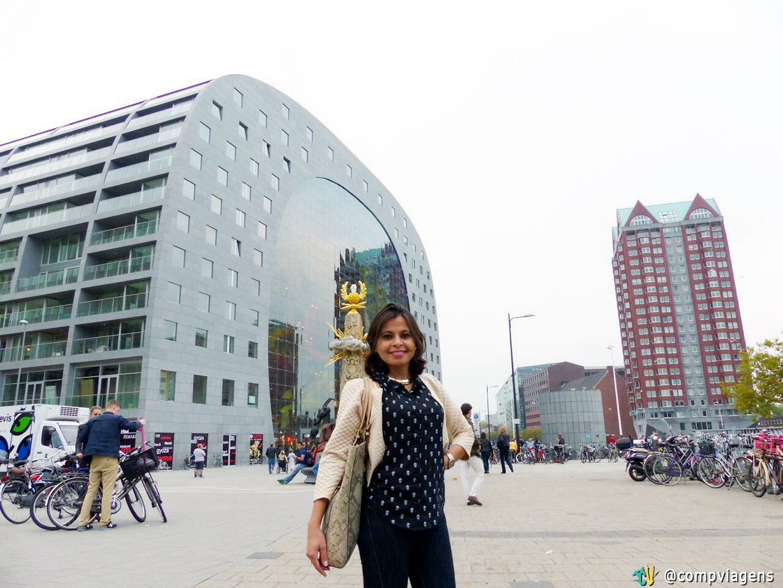Mara Nogueira no Markthal, em Roterdã