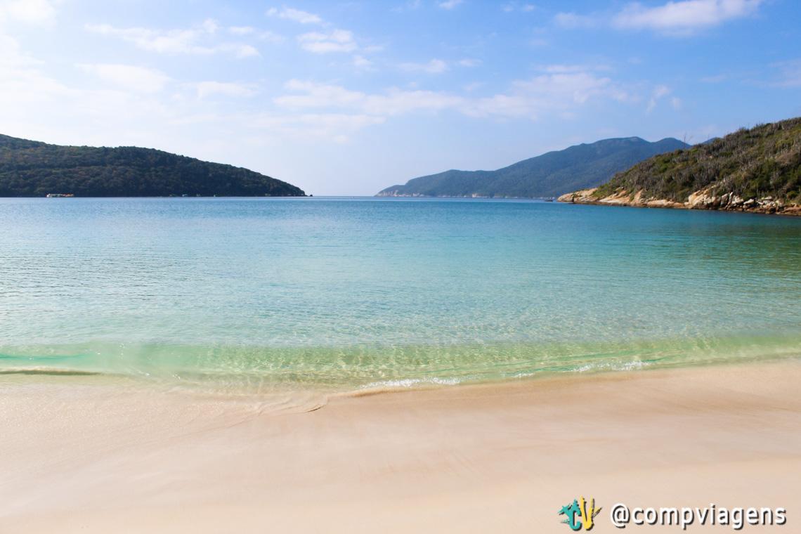 Praia do Forno quase deserta no inverno