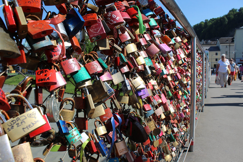 Cadeados na Staatbrücke