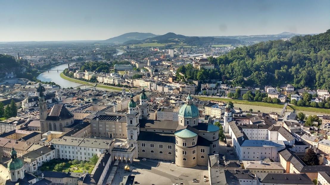 Salzburg vista da Fortaleza de Hohensalzburg