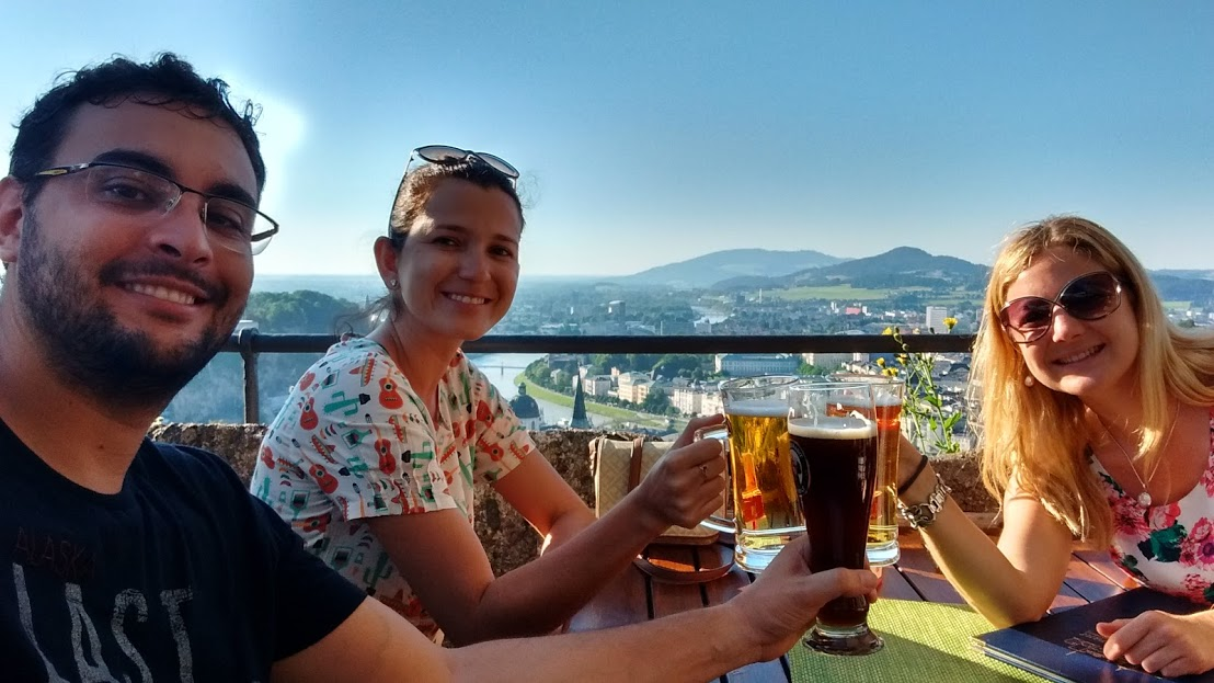 Fred, eu e Cláudia, nossa amiga austríaca