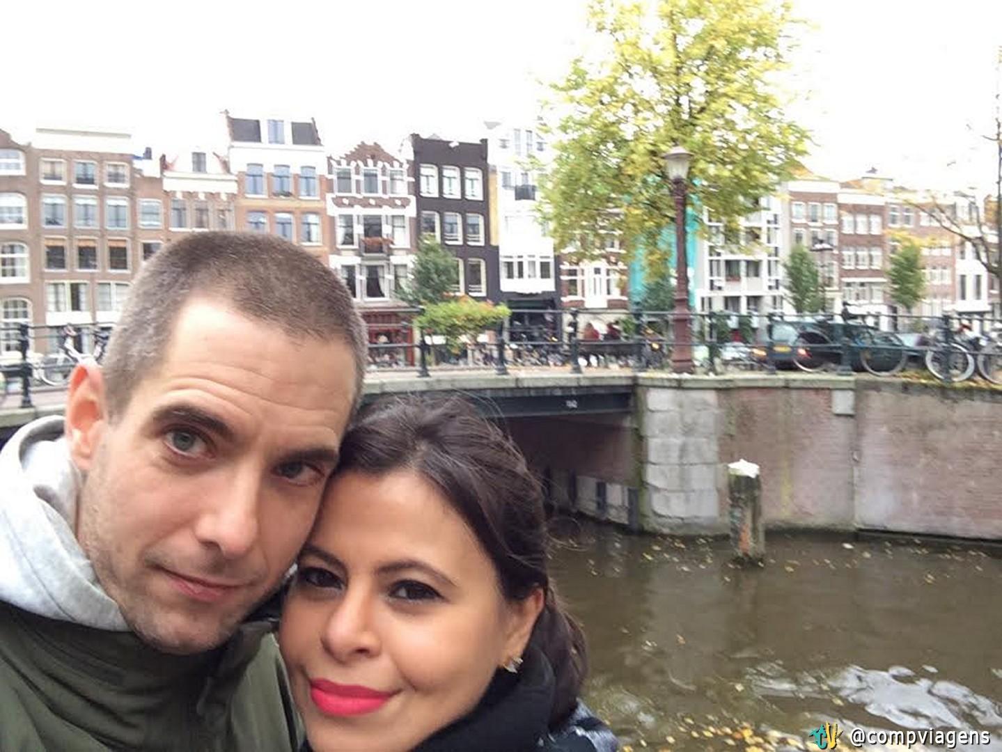 Com o noivo holandês, Jereon