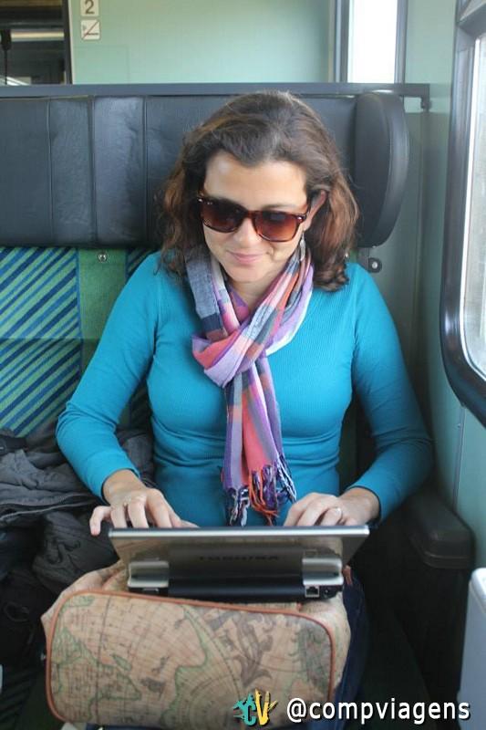 Trabalhando no trem na Alemanha