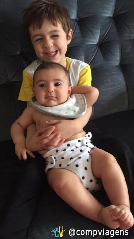 Os dois filhos ficam com a nacionalidade brasileira, apesar do mais novo ter nascido em Upssala