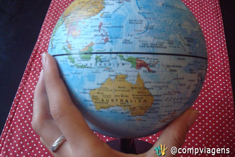 My travel plans on a globe