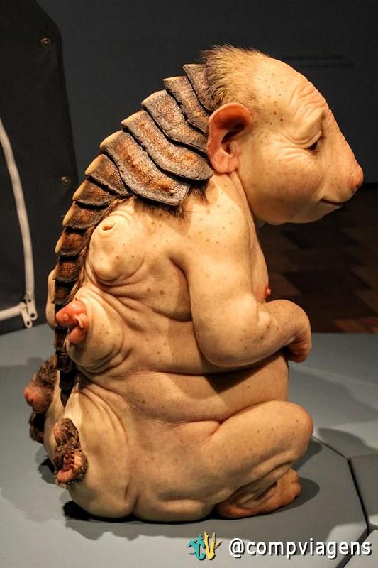 No primeiro momento, as esculturas da ComCiência causam aversão, mas depois despertam empatia
