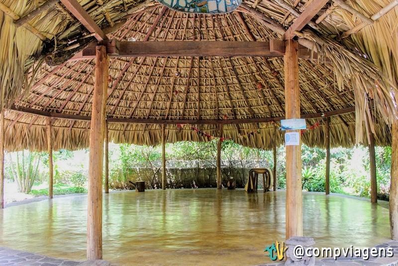 Local para prática de yoga no Eco Hotel La Paz