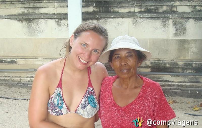 Mama loca and me at Kuta beach