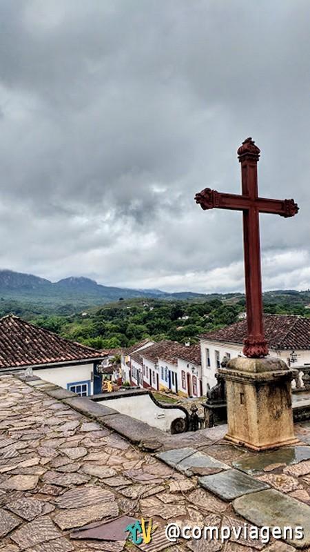 Vista do pátio da Matriz de Santo Antônio