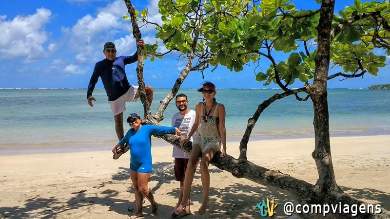 Nós quatro na Ilha de Boipeba