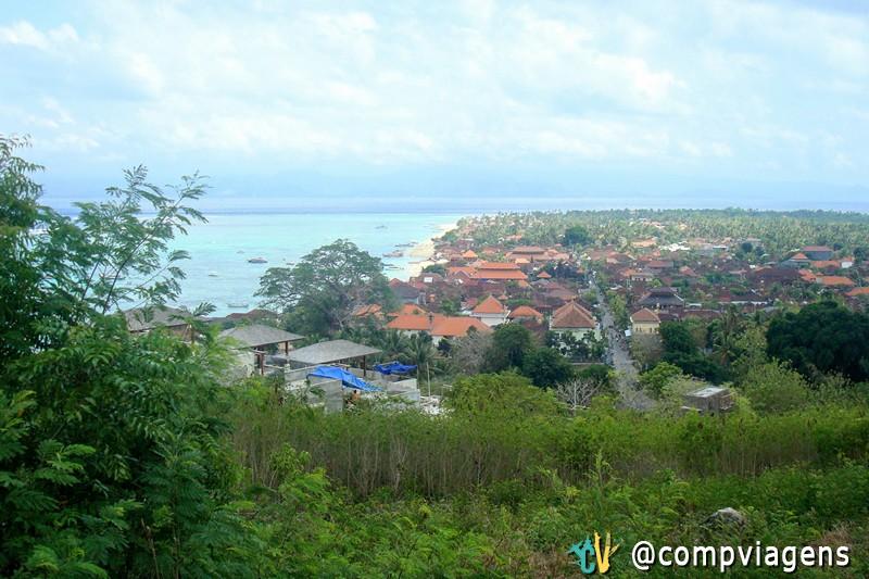 A vista do Panorama Point dá uma ótima ideia da ilha
