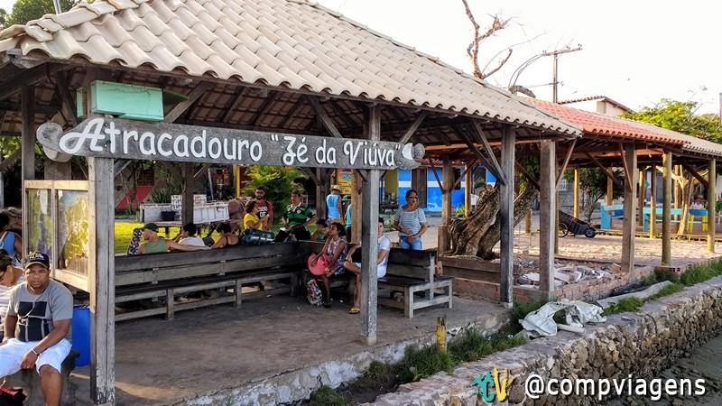 Atracadouro Zé da Viúva, na Boca da Barra