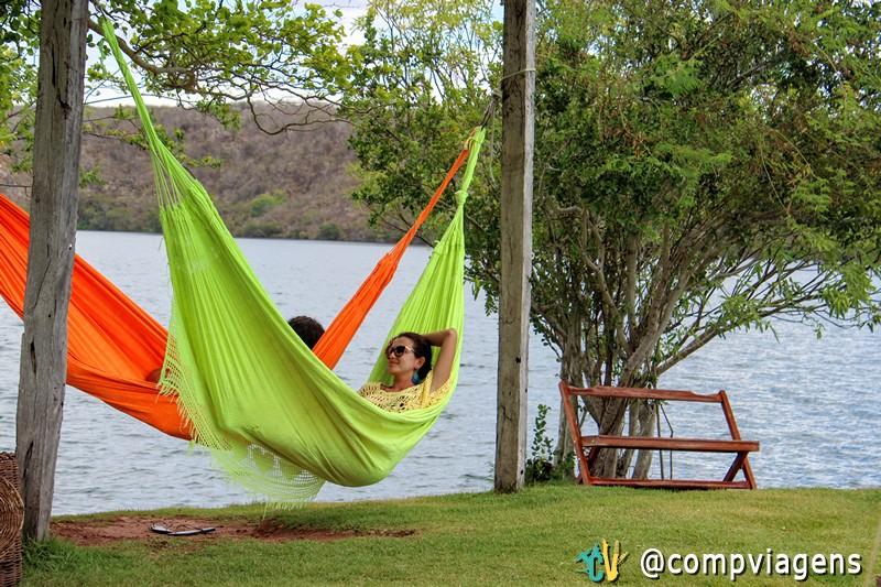 Relaxando na rede no Restaurante Castanho
