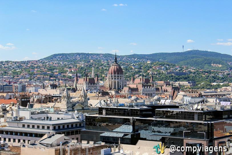 Budapeste vista da Basílica de Santo Estêvão