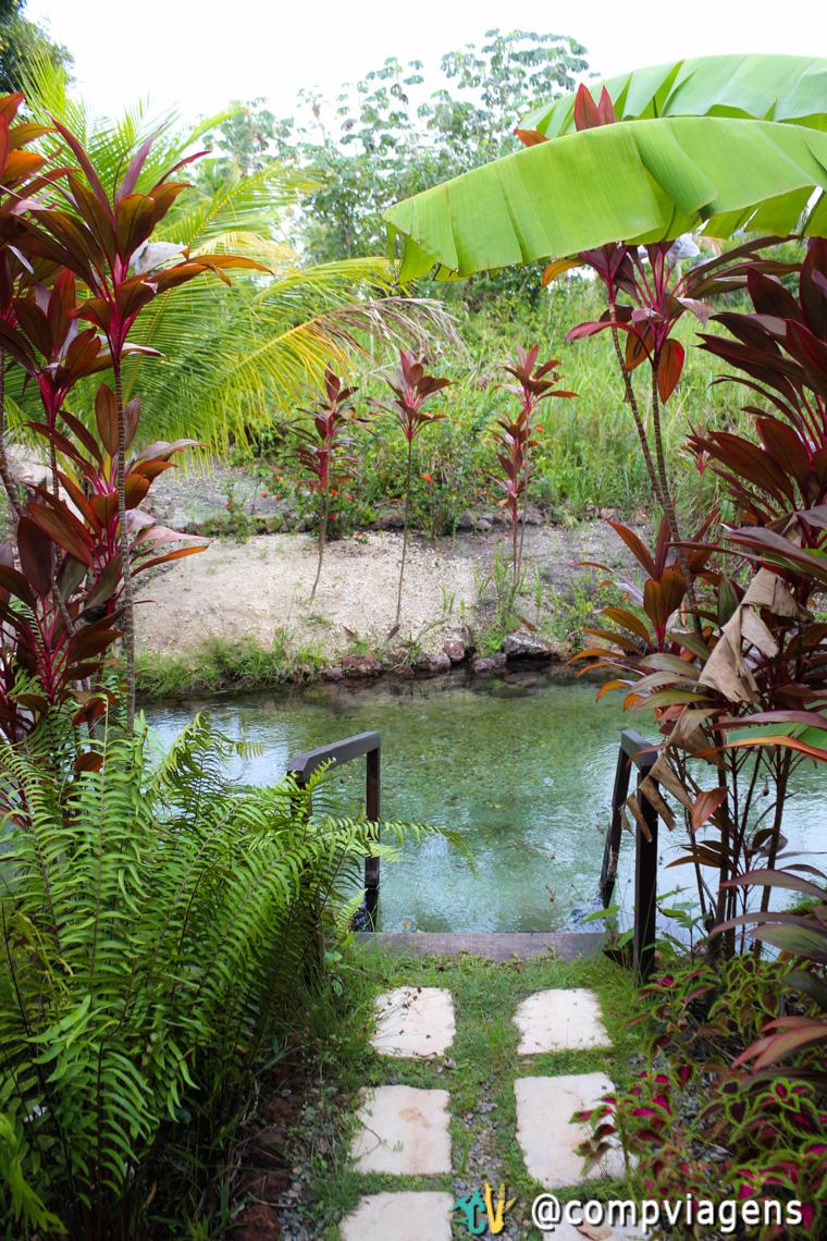 O Tao Paradise funciona às margens da nascente do rio Catolé