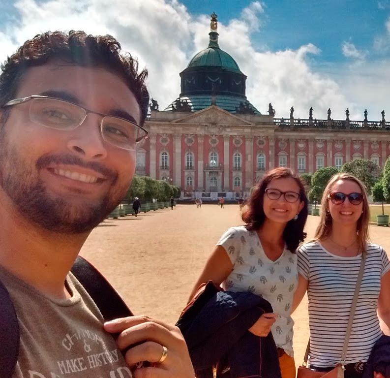Fred, eu e Julie, ano passado, em Potsdam, Alemanha