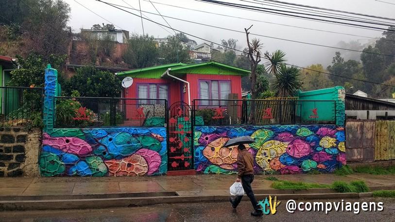 Casa colorida em Valparaíso