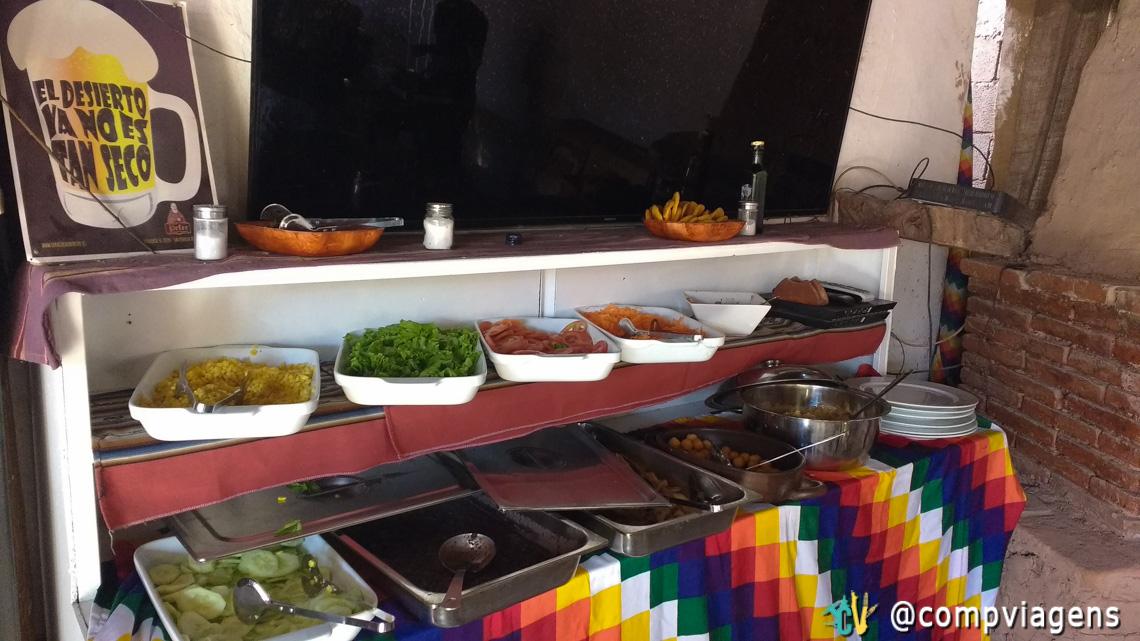 Almoço no restaurante da Ayllu