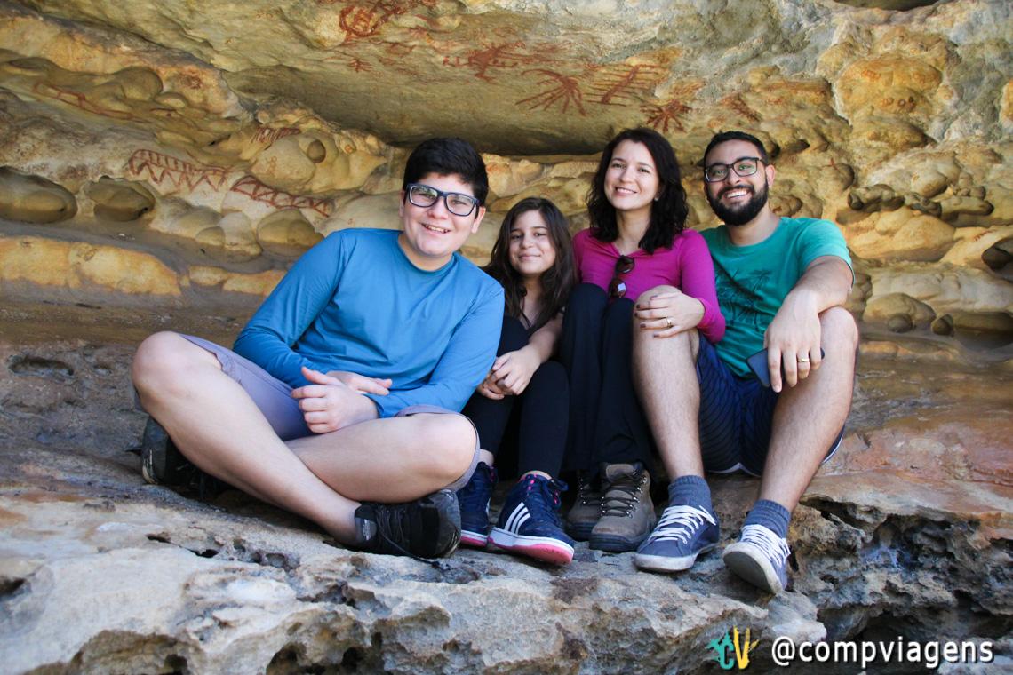 Com nossos sobrinhos: Serginho e Maria