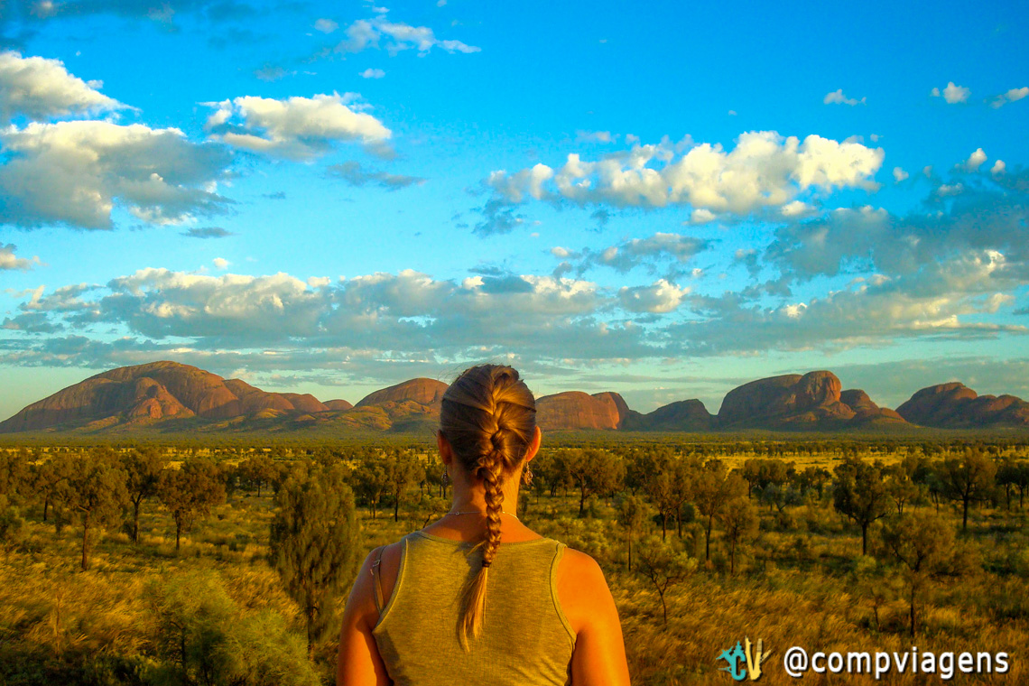 Nascer do sol em Kata Tjuta Dune View