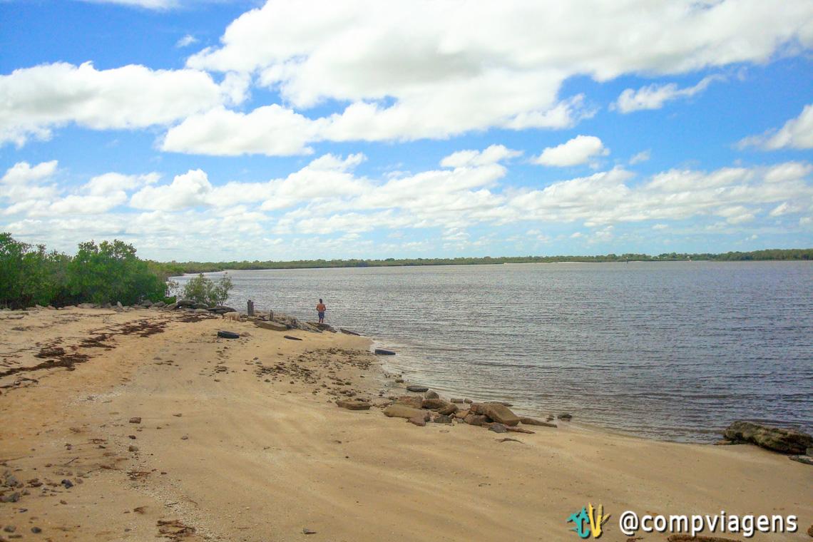Vista do calçadão do Karumba of Norman River