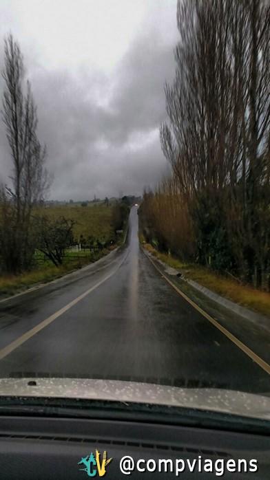 Estrada em Chiloé