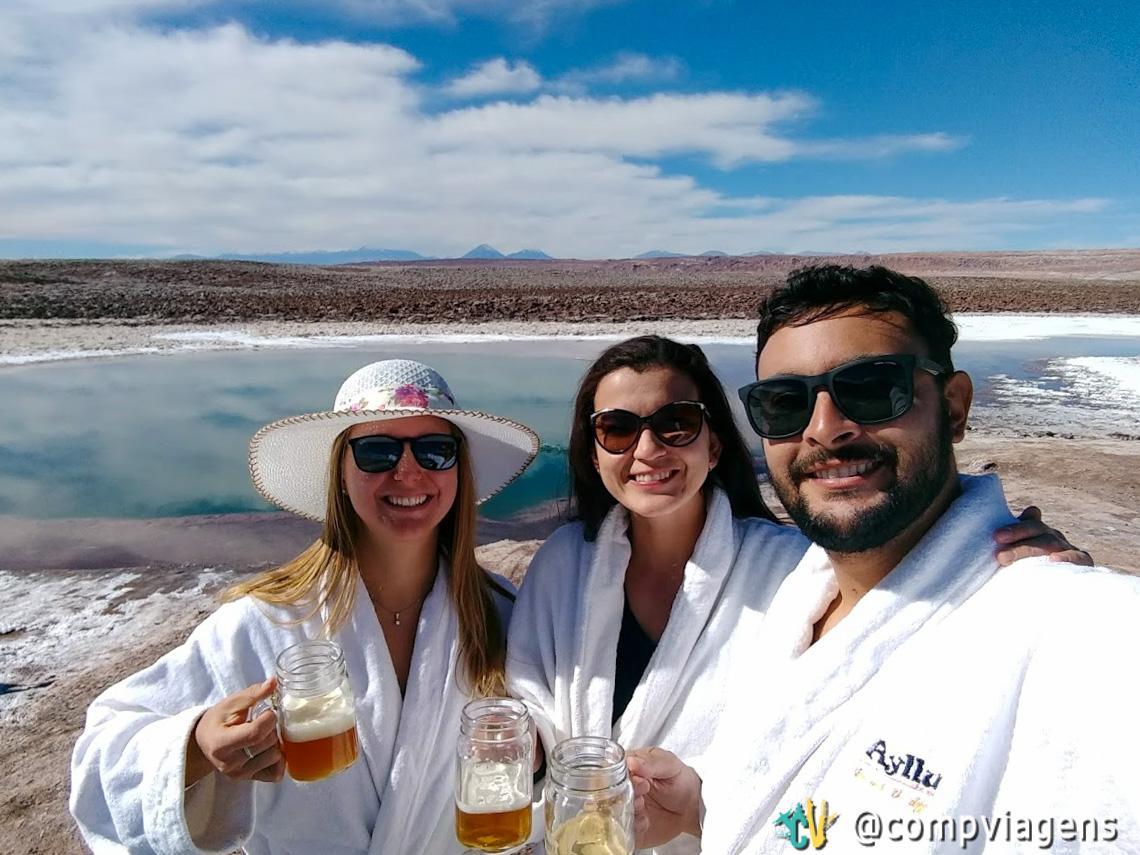 Com Julie e Fred degustando cervejas St Peter