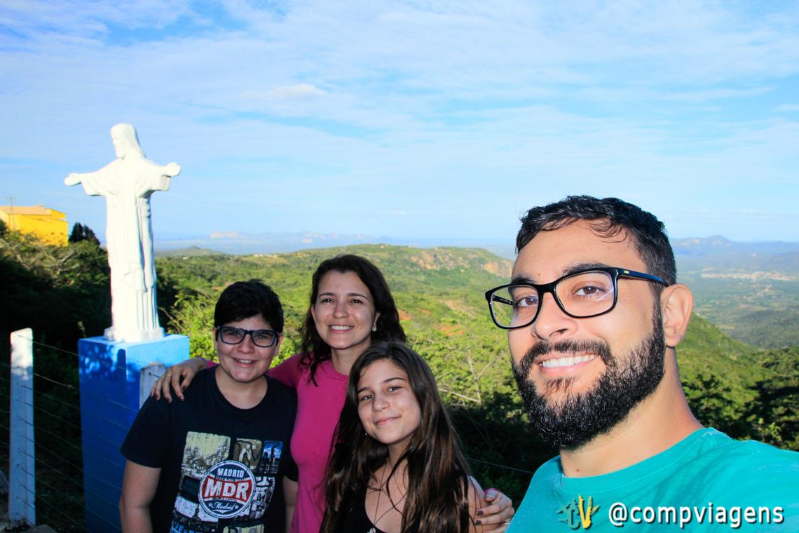 Com os nossos sobrinhos, Serginho e Maria no Mirante da Carranca