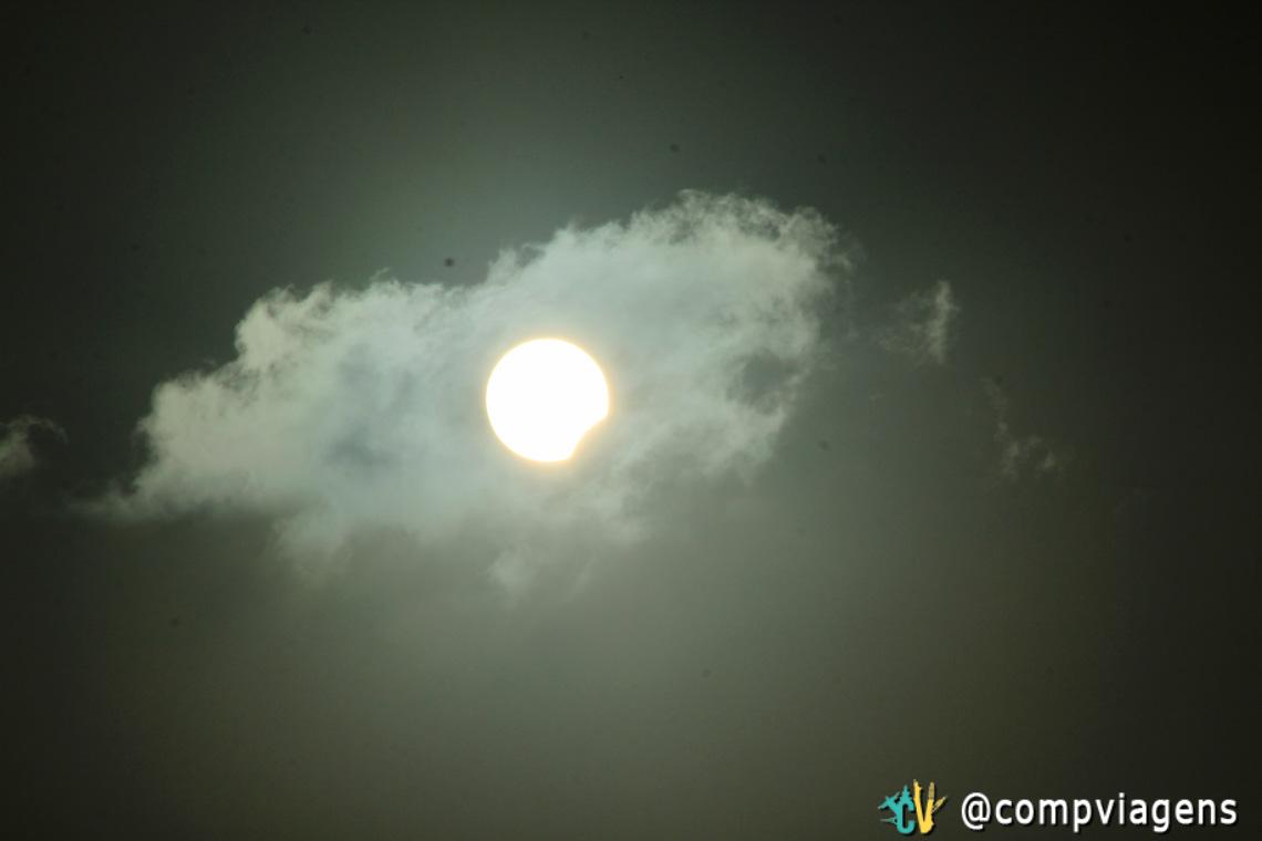 O eclipse começou por volta das 16h25 em Natal