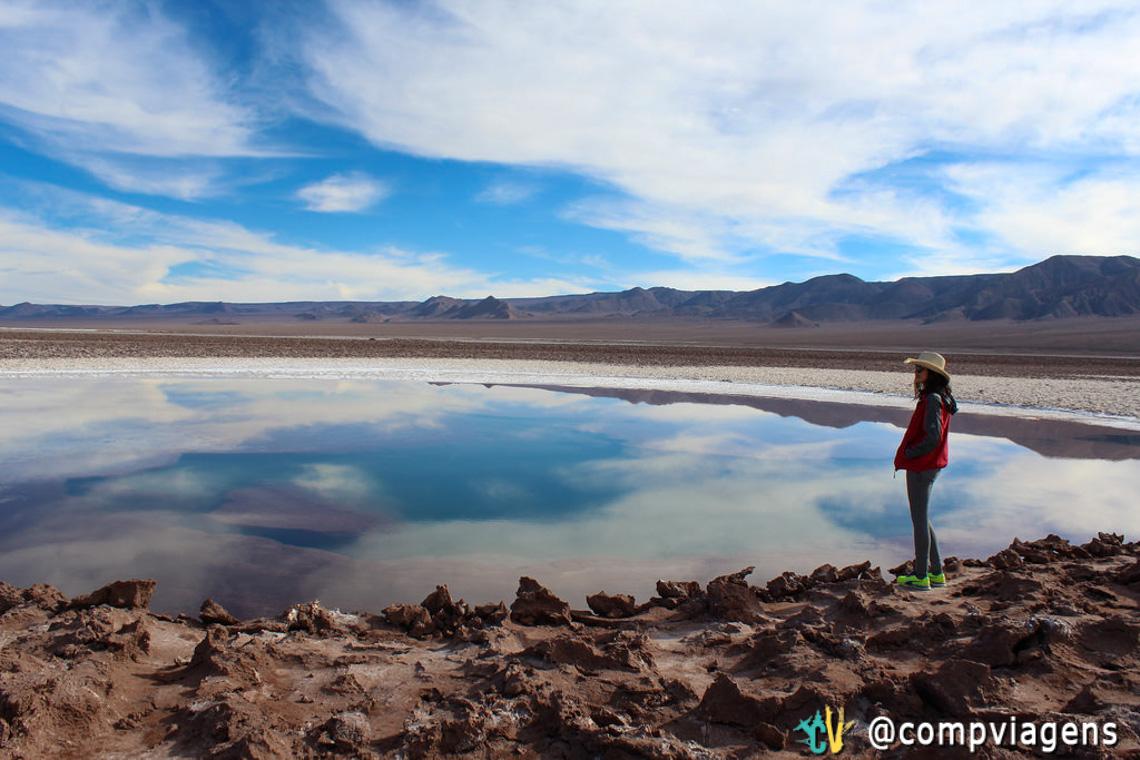 O reflexo do céu nas lagoas é incrível