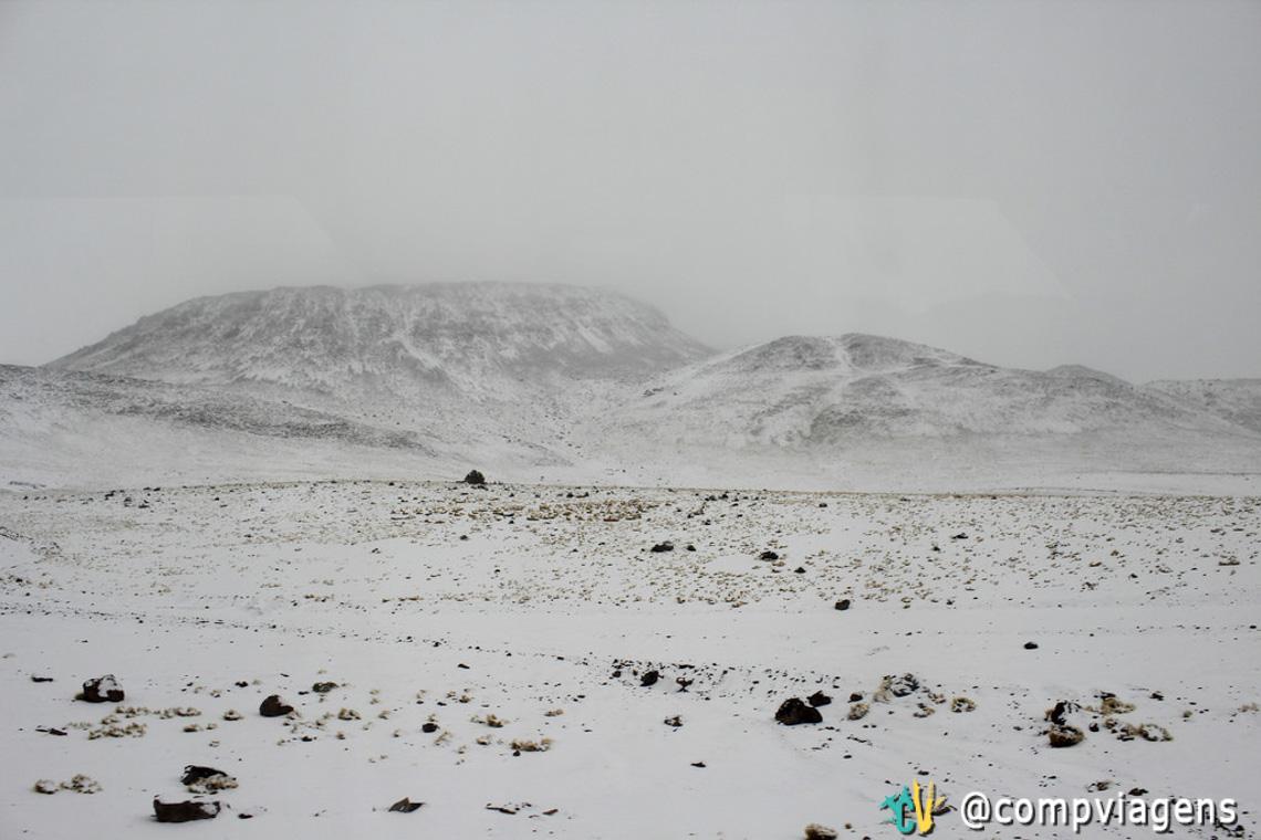 Estrada na saída de San Pedro de Atacama