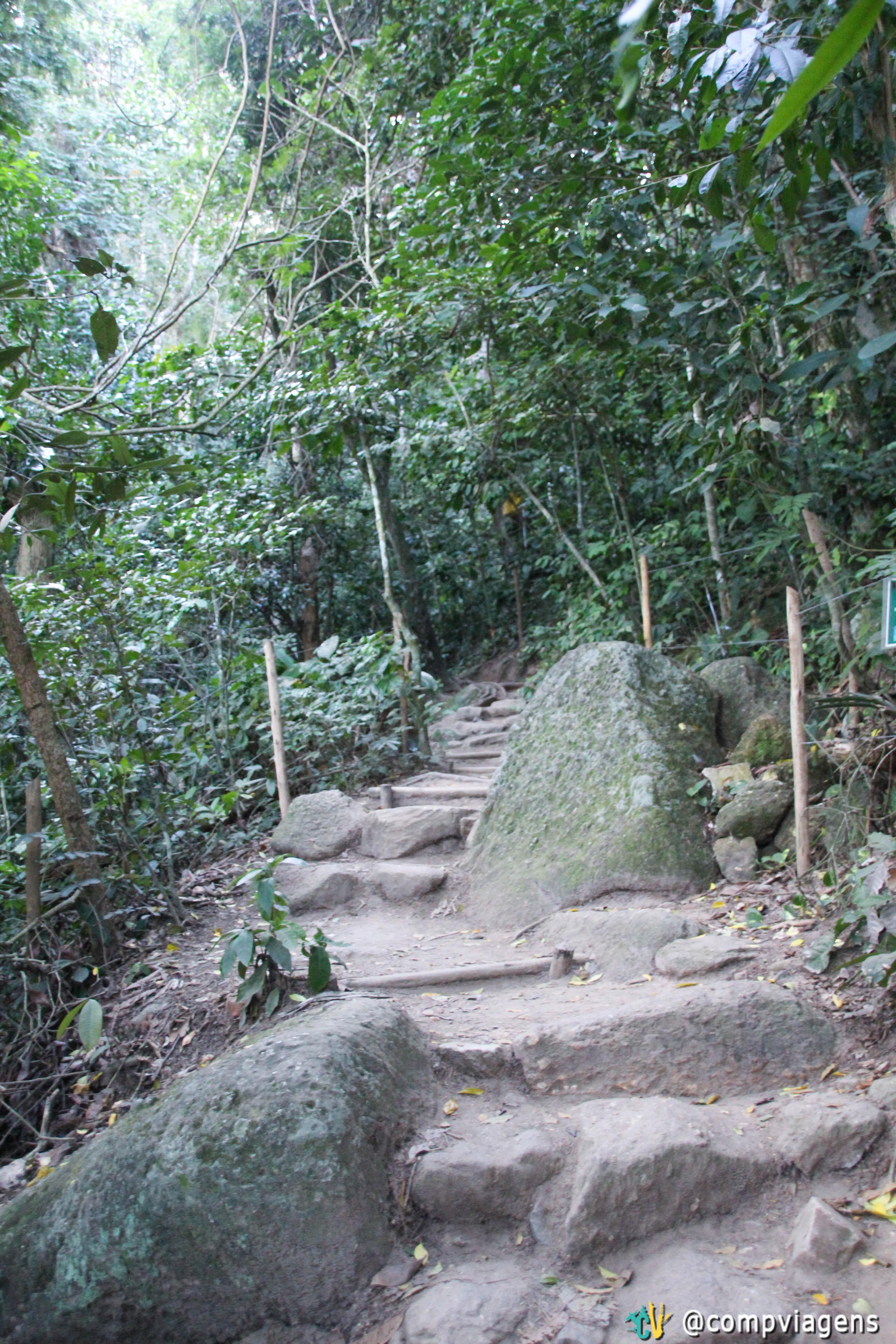 A trilha para Morro da Urca
