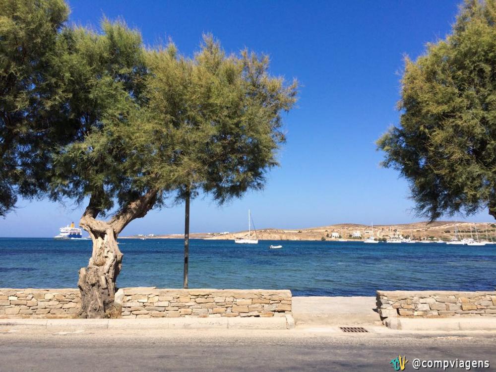 Parikia, capital e principal vila da ilha de Paros