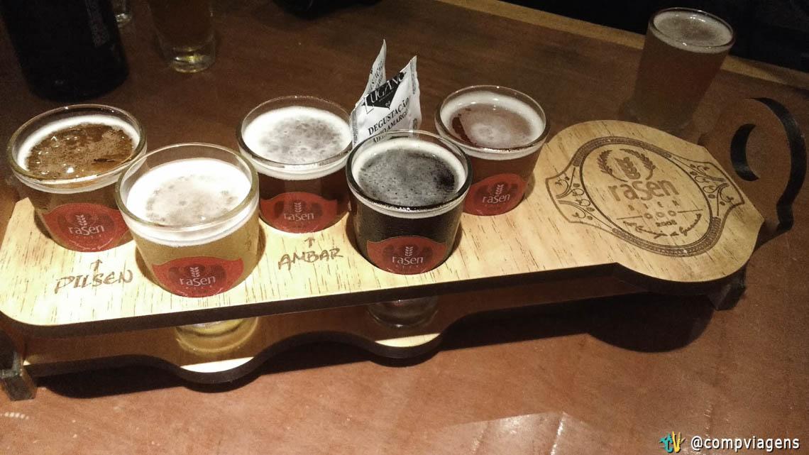 Degustação dos rótulos da Rasen Bier