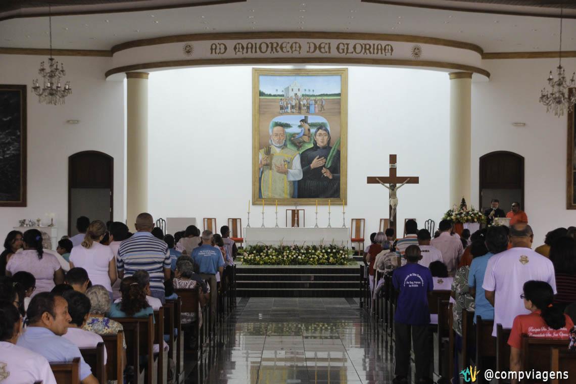 Missa nos Santuário dos Mártires no feriado do dia 3