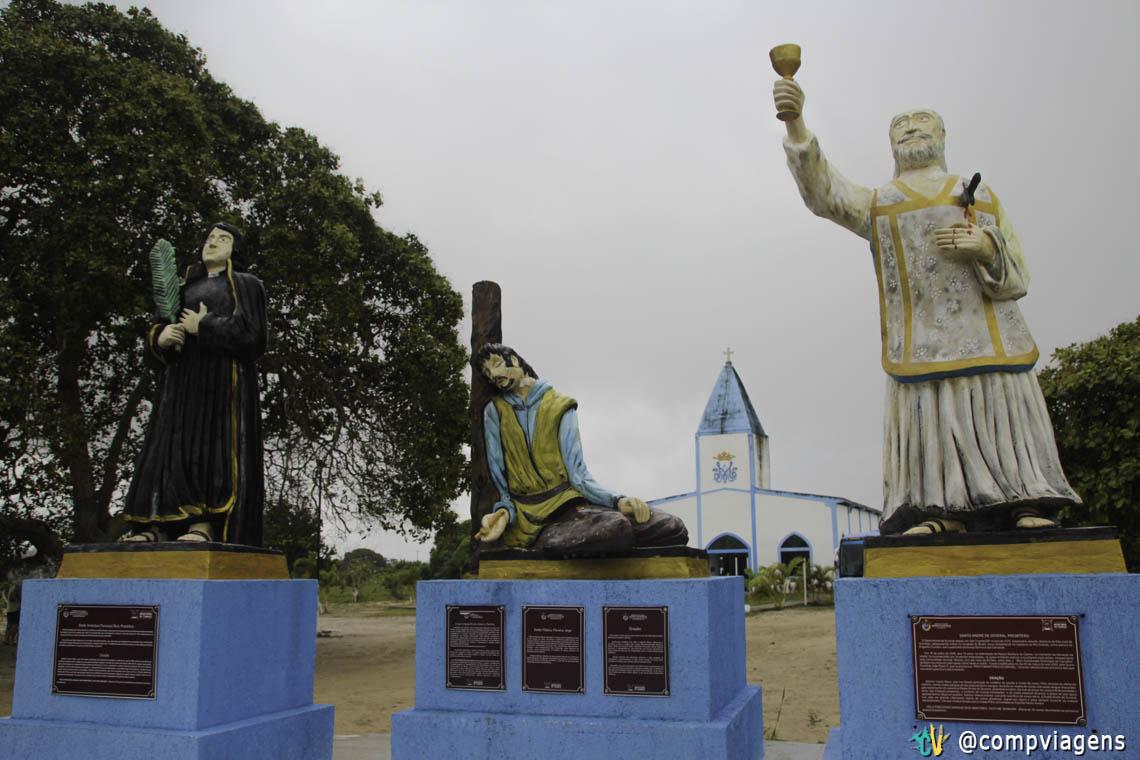 Imagem dos Mártires de Cunhaú e Uruaçu no Santuário Chama de Amor