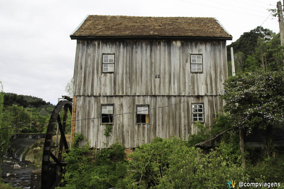 Moinho na zona rural de Gramado