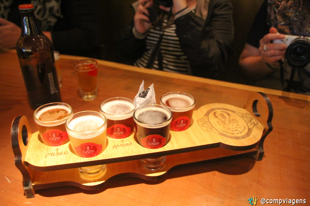 Chopps degustação da Rasen Bier