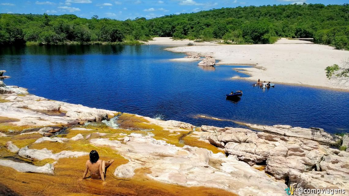 2017 começou com banho de cachoeira na Chapada Diamantina
