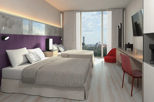 Quarto do Universal's Aventura Hotel, que será inaugurado no Universal Orlando Resort em 2018