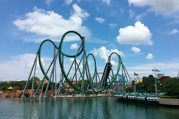 The Incredible Hulk Coaster, no Universal's Islands of Adventure