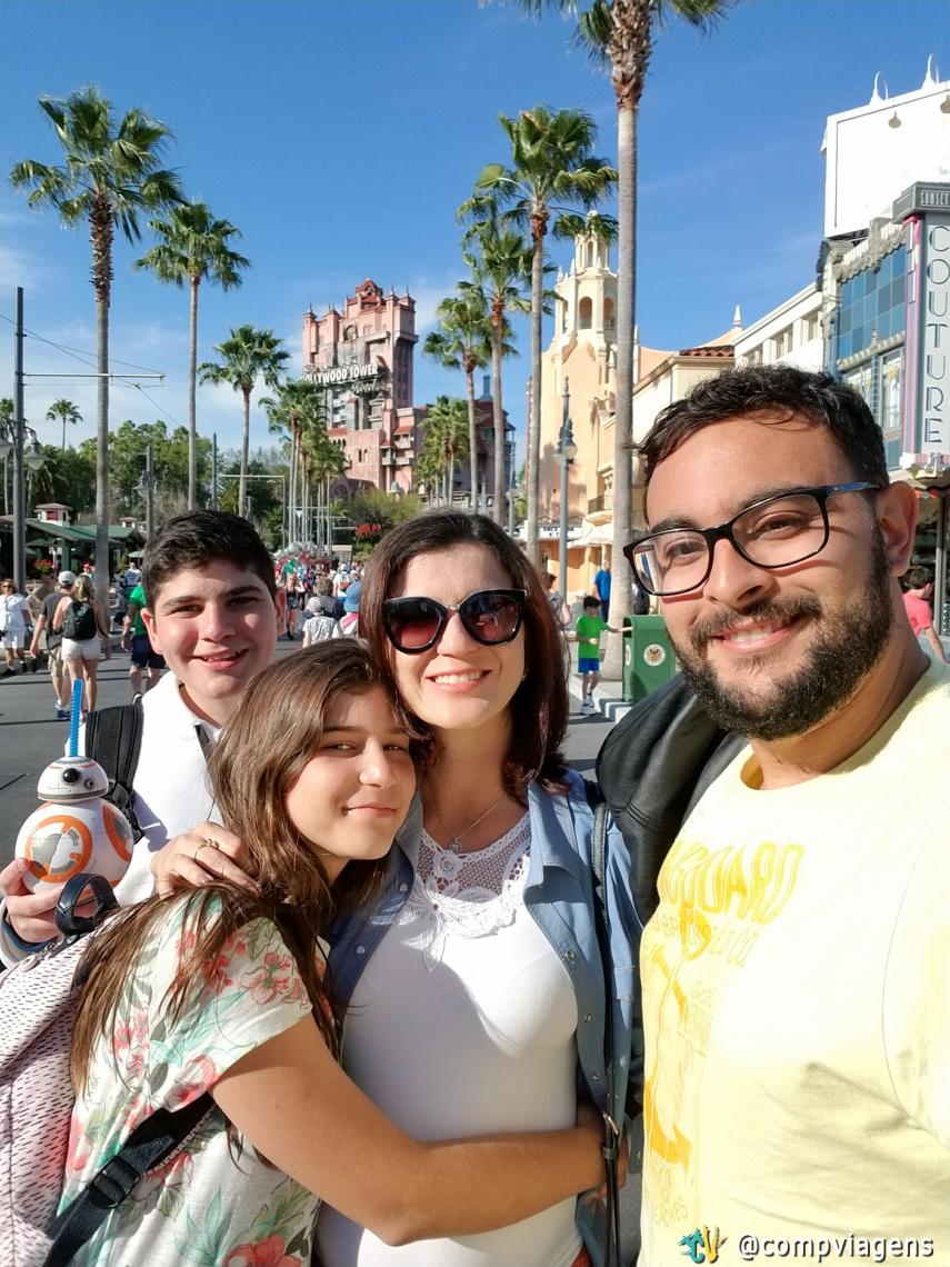 Com Fred e os nossos sobrinhos Maria e Serginho no Hollywood Studios