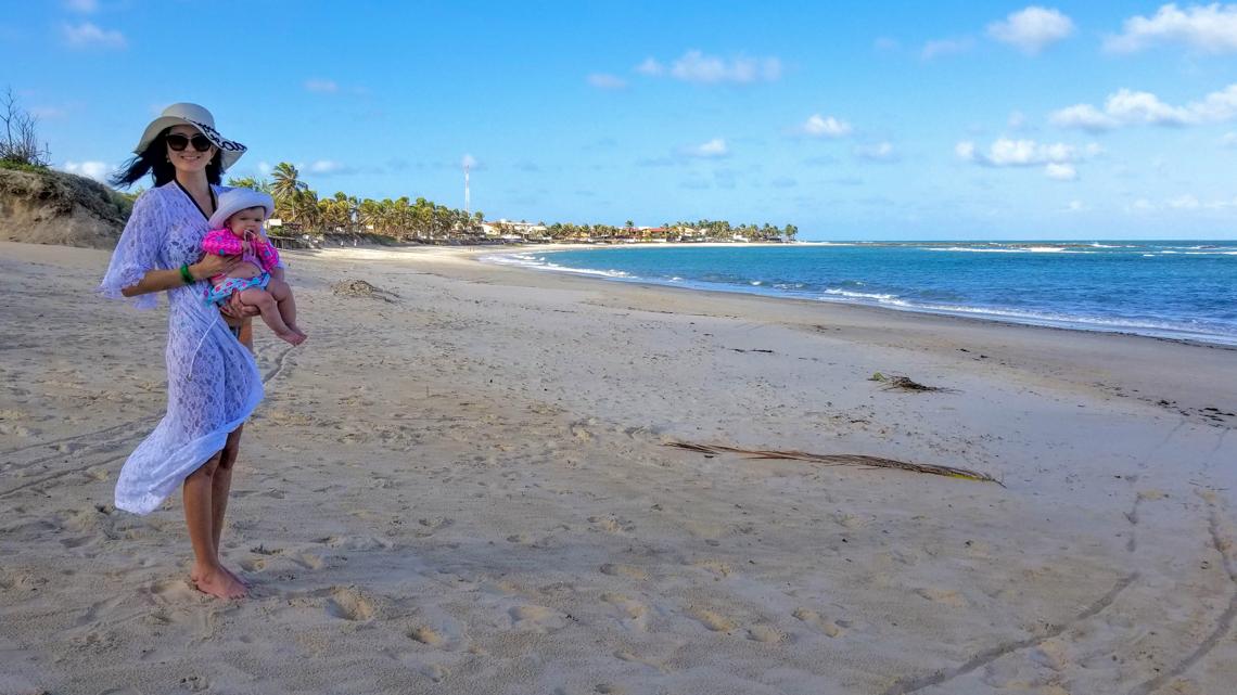 Com Elis na praia de Camurupim-RN