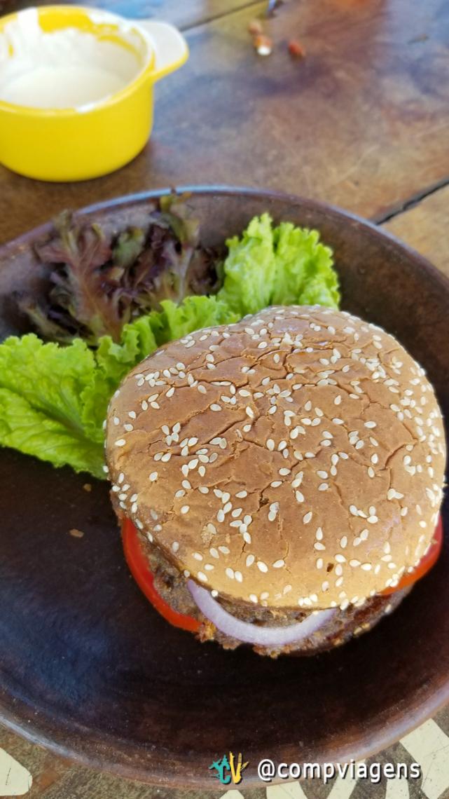 Hambúrguer vegetariano, meu pedido