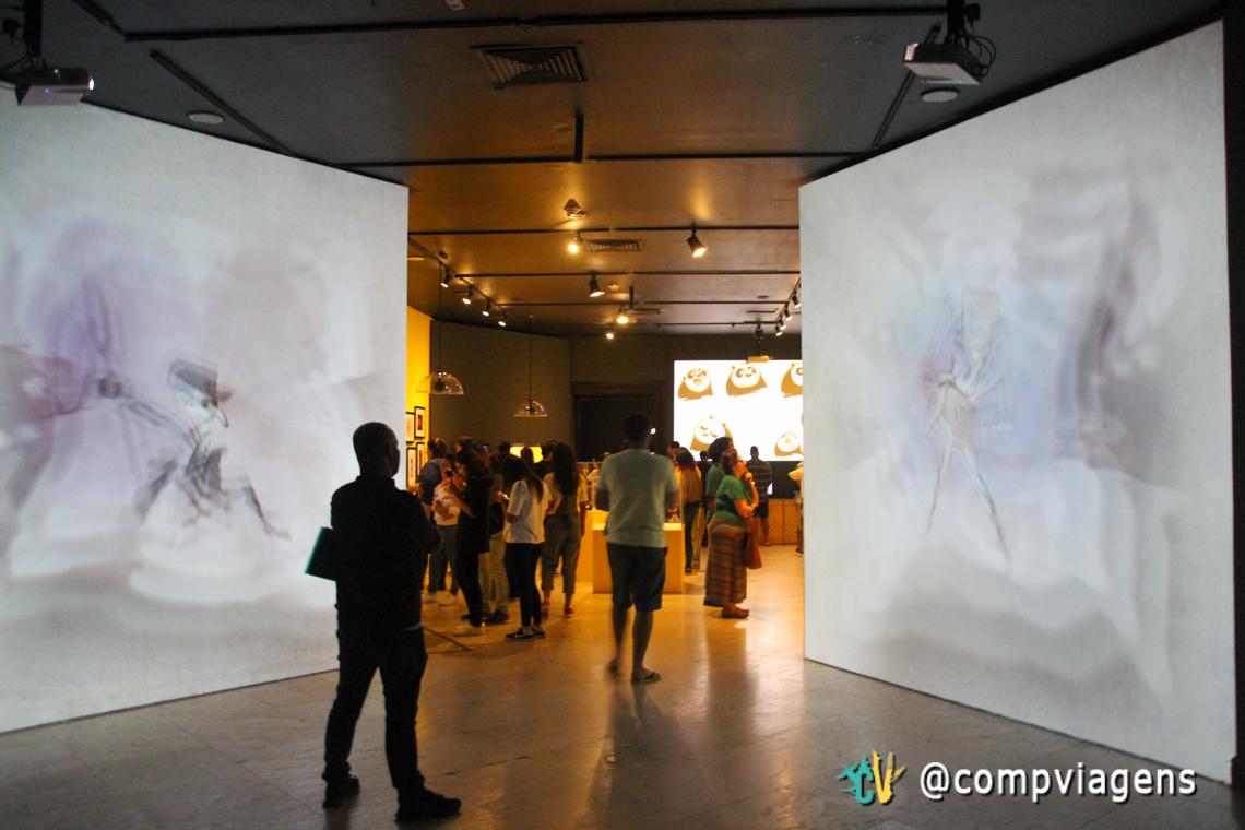 Exposição Dreamworks no segundo andar do CCBB